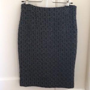 Zara wool tweed pencil skirt